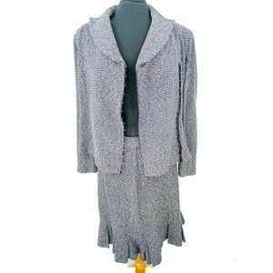 Vintage St John Couture 2 Piece Tweed Skirt Suit 8